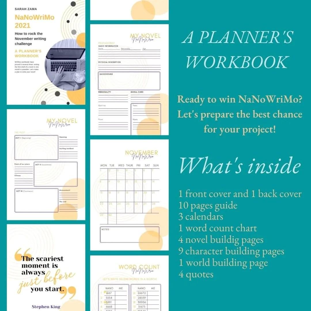 NaNoWriMo Workbook 2021 (Planner)