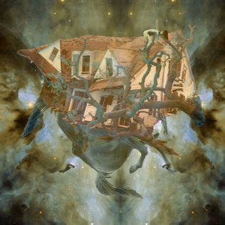 tangled galaxy surreal horses house intergalactic collage artist Sarah Zar