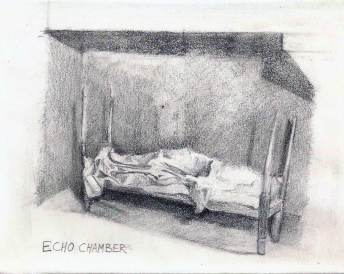 Echo Chamber - empty bed drawing
