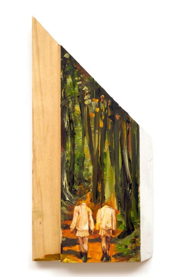 Headless Beings- by sarah gonek zar, forest girls oil paintings