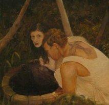 Our Arms The Oars Our Feet The Flood Sarah Zar oil painting