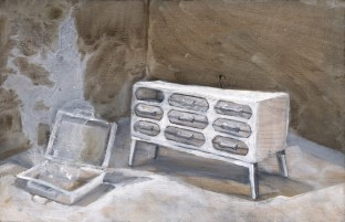 neutral interior design, a magical dresser drawer