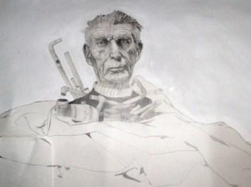 Samuel Beckett Memorial Sarah Zar drawing