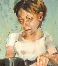 portrait of a girl with short hair cooking