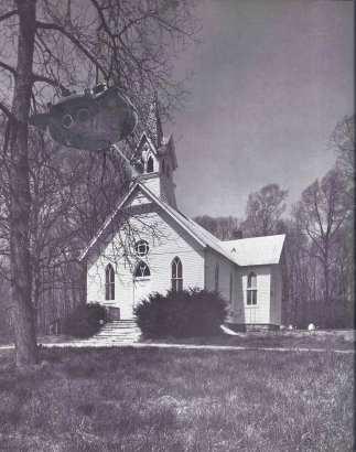 Flying Saucer church beams