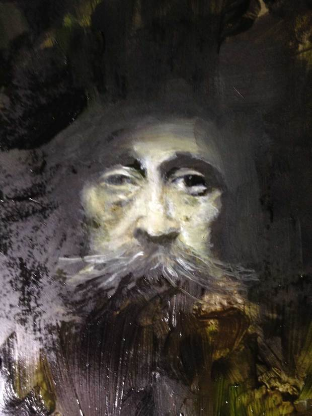 Classical Portrait of a Man with Whiskers, by Sarah Zar. wet Renaissance Painting style