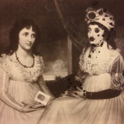 Two women reading riddled with spots by charles whymper and sarah zar