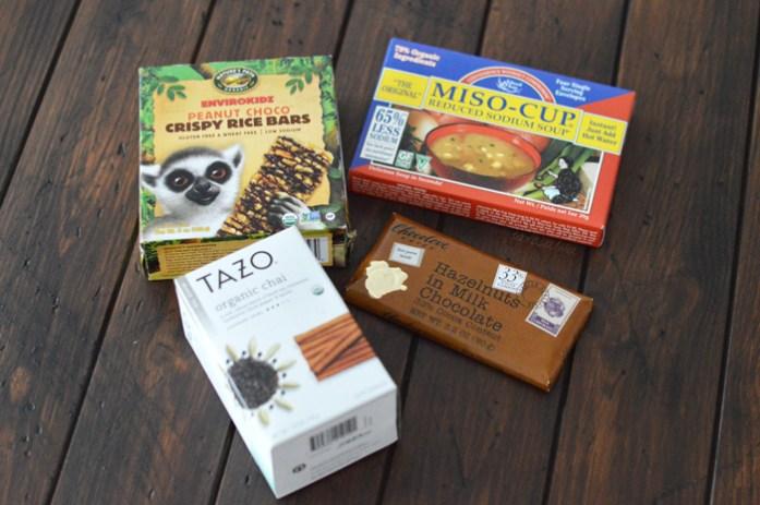 rice-bars,-tazo-chai,-sopa-miso,-chocolate,-iherb