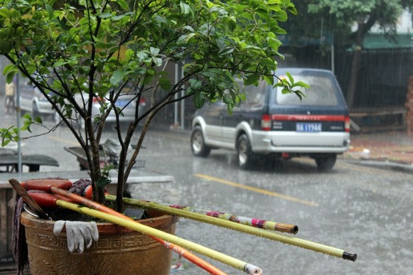 Rainy day in Xiaozhou village
