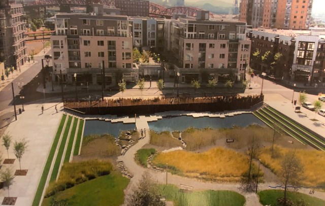 Tanner Springs Park. A city block in Portland that was designed as a urban  park to treat stormwater.