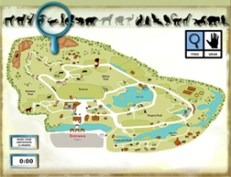 Interactive map -find and place the animals into their cages at the zoo
