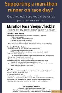 marathon spectators checklist