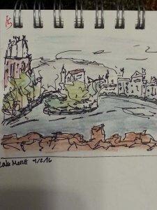 Lake Merritt Sketch