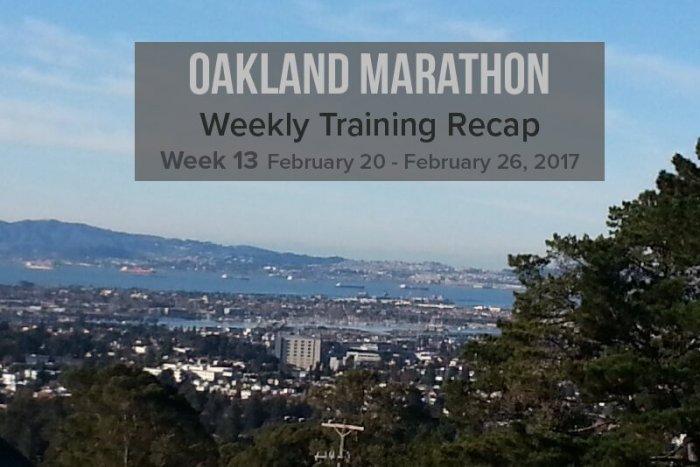 Oakland Marathon Recap week 13