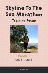 skyline to the sea marathon training recap 1