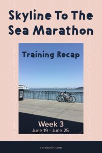 skyline to the sea marathon training recap 3