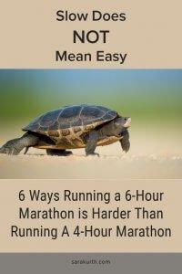 Slow Running Marathon