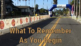 What To Remember as you begin running