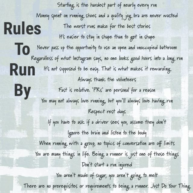 Rules To Run By