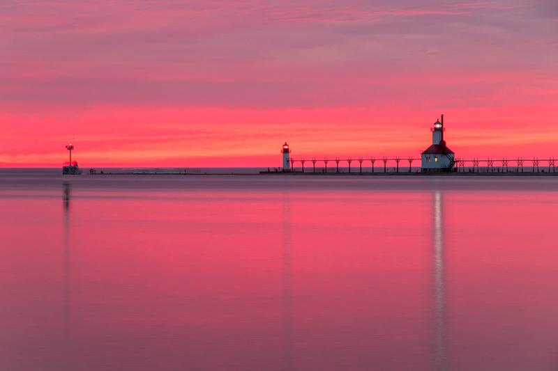 St. Joseph Michigan Sunset Silver Beach