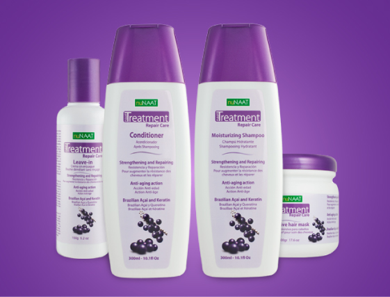 NAAT Treatment Repair Care with Açai Berry and Keratin Collection