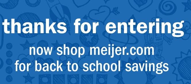 Meijer's Back-to-School Photo Sweepstakes