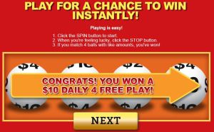 $10 lotto play win