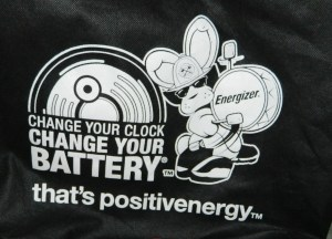 Energizer logo on bag