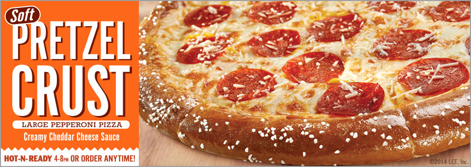 Little Caesars Soft Pretzel Crust Pizza (1/5)
