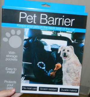 Backseat Pet Barrier for Car Auto Dog Net for Vehicle Travel to Secure your Dogs or Puppy safely from the Front Seat