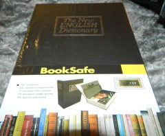 Dictionary Diversion Book Safe with Combination Lock