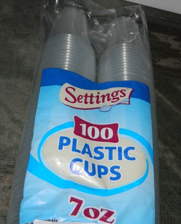 Settings 7oz Plastic Disposable Cups 100 Count
