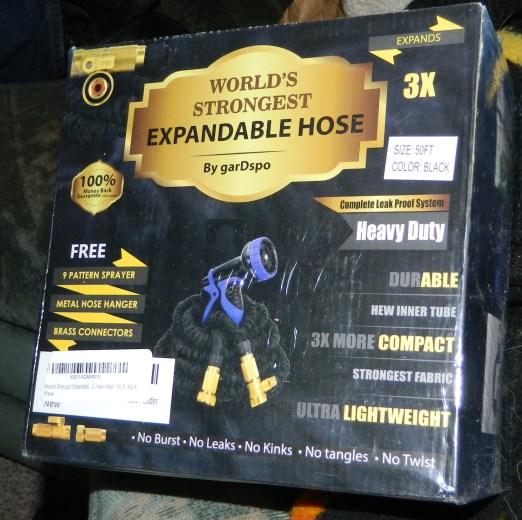 50 FT World's Strongest Expandable Garden Hose Set - Black