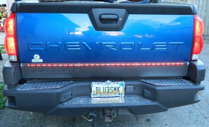 "Partsam Universal Car Truck Turn Signal Tail Reverse 60"" White Red Tailgate LED Bar for Chevrolet Pickup Truck"