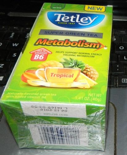 Tetley Super Green Tea Metabolism Tropical - 20 per pack