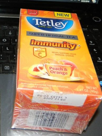 Tetley Super Herbal Tea Immune Peach & Orange - 20 per pack