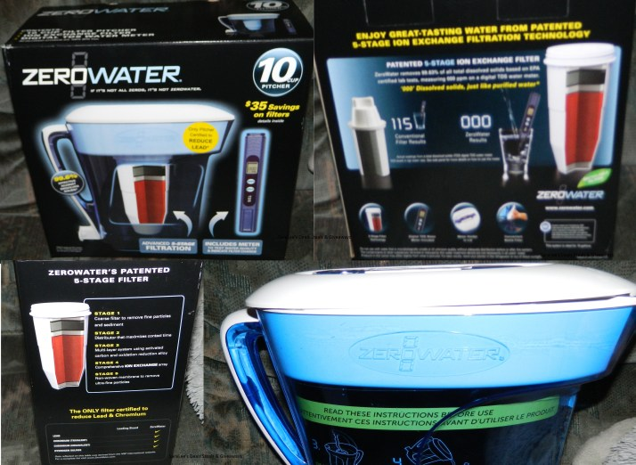ZeroWater 10 Cup Pitcher with Free TDS Meter