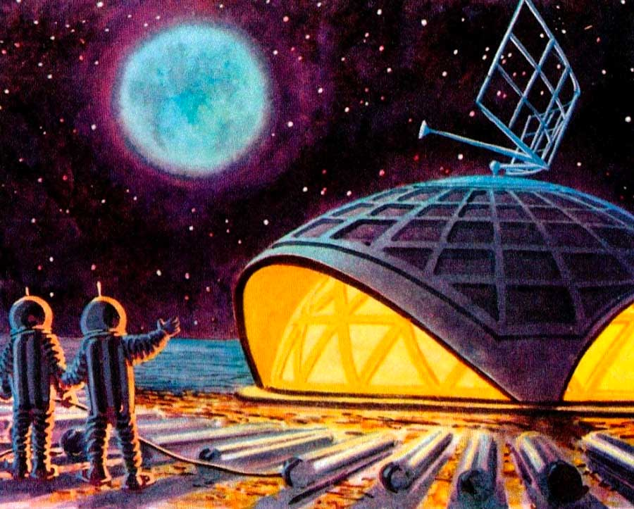 The Moon Station Dome illustration by Andrey Sokolov