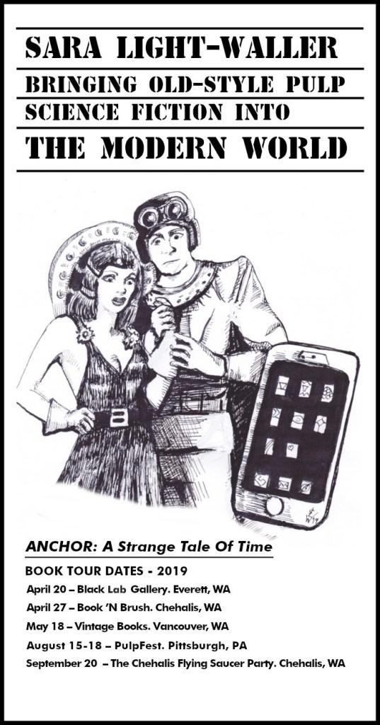 Dates for the 2019 ANCHOR book tour - April through September.