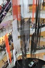 Mega mall, 5 or 6 stories hight.