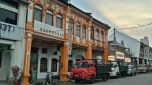 Restored shophouses. Almost all of Georgetown is filled with rows of houses like these. Business on the ground floor, family sleeps up top.