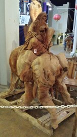 Cool wood carving.
