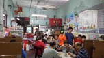 The small eating area around the famous chendol stall in an alley off Penang road. Free seating.