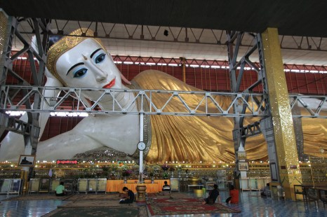 The largest, most beautiful reclining Buddha we've ever seen.
