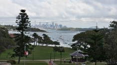 View of the city and bridge from Watsons Bay.