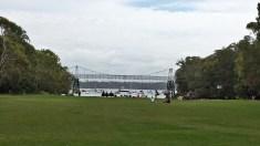 A pocket beach and beautiful footbridge at Parsley Bay.