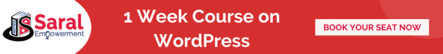 1 Week WordPress Course.