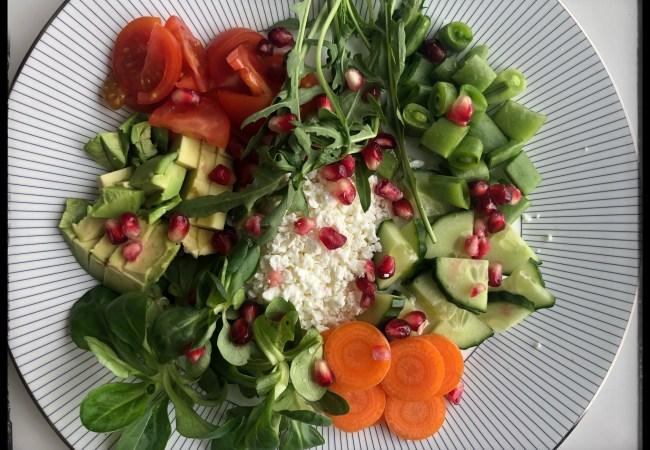 Proteinrik salat med Skjørost fra Rørosmeieriet