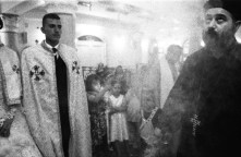 Egypt, Deir Abu Hennis, July 2012. The majority of Christians of the village is Orthodox. There is also a small Catholic church and the relations between the two communities are great. During festivities such as weddings or baptisms representatives of each go to pay homage to others.