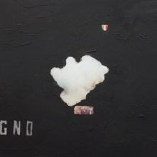 Sogno, soli contro tutti- Bologna (2017)-Gouache su cartolina vintage